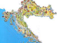 Туристическая карта Хорватии