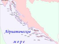Карта Далматинских островов