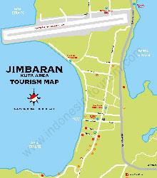 Карта курорта Джимбаран