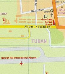 Карта курорта Тубан