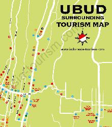 Карта курорта Убуд