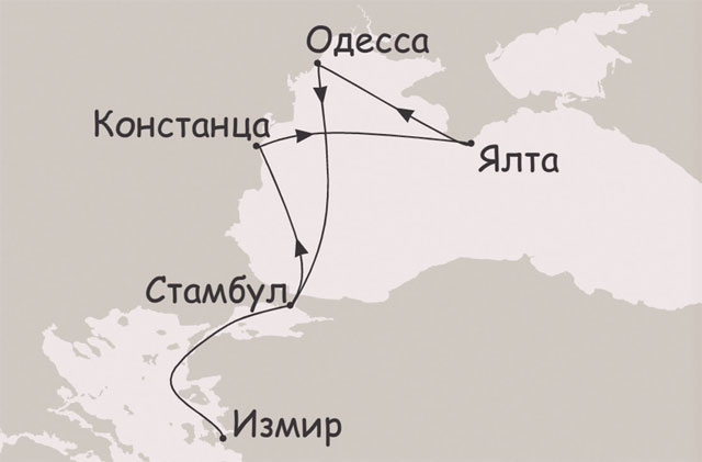 Безвизовый круиз чёрное море
